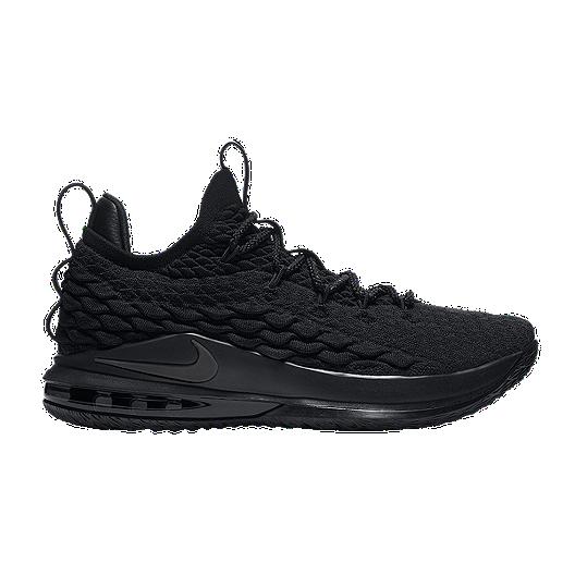 8b9af45af68 Nike Men s LeBron XV Low Basketball Shoes - Black Grey