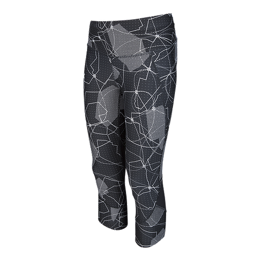 Under Armour Fly Fast Printed Womens Long Running Tights Black Sporting Goods Clothing & Accessories