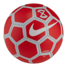 Nike Menor X Size 5 Soccer Ball - Bright Crimson Red/White