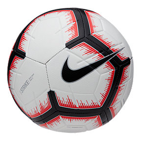 Nike Strike Size 5 Soccer Ball - White/Crimson Red/Black