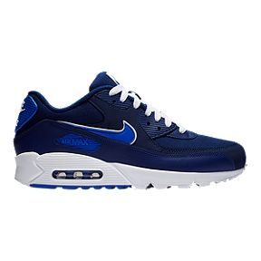 newest 5d78d 201a1 Nike Men s Air Max 90 Essential Shoes - Blue Royal White