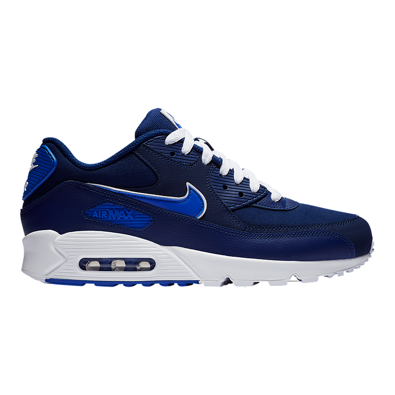 outlet store 7999a 79e40 Nike Men s Air Max 90 Essential Shoes - Blue Royal White   Sport Chek