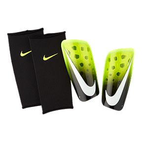Nike Mercurial Lite Shin Guards - Volt Black White 2ad5d65a02