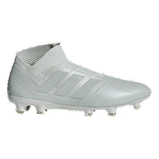 2d4516709bfd adidas Men s Nemeziz 18+ FG Soccer Cleats - Silver Black White ...