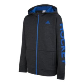 adidas Boys' Hockey Full Zip Hoodie