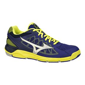 online retailer 5e600 5dc61 Mizuno Mens Wave Supersonic Indoor Court Shoes - BlueYellow