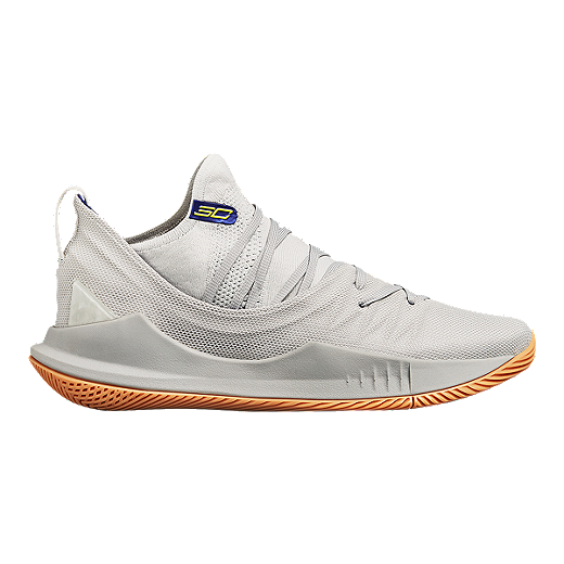 74ea2d4e9d5 Under Armour Men's Curry 5 Basketball Shoes - Ivory/Tokyo Lime - GRAY/IVORY