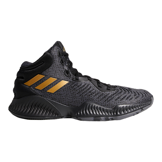 d9ed6f5310bdc adidas Men s Mad Bounce 2018 Basketball Shoes - Black Metallic Gold Grey