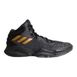 on sale a4313 936b1 adidas Men s Mad Bounce 2018 Basketball Shoes - Black Metallic Gold Grey