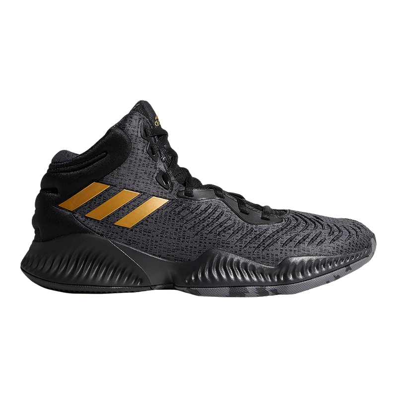 pretty nice 4a36e 04672 adidas Men s Mad Bounce 2018 Basketball Shoes - Black Metallic Gold Grey    Sport Chek