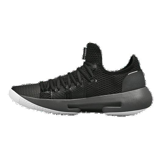77468b8560e Under Armour Men s HOVR Havoc Low Basketball Shoes - Black Grey ...