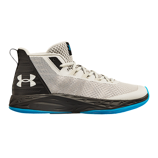 17641757a47d Under Armour Men s Jet Mid Basketball Shoes - Grey Black Blue ...
