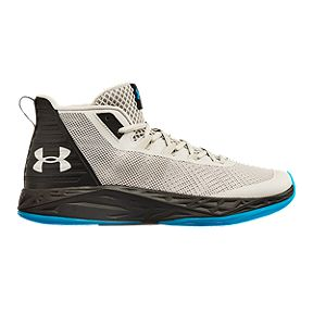 size 40 6a5b7 9c315 Under Armour Men s Jet Mid Basketball Shoes - Grey Black Blue