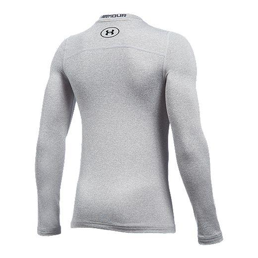 Molesto Idealmente animación  Under Armour Boys' ColdGear Armour Long Sleeve Crew Shirt | Sport Chek