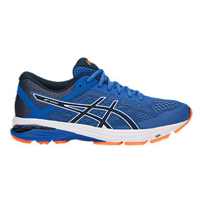 ASICS Men's GT 1000 6 Running Shoes - Blue/Orange