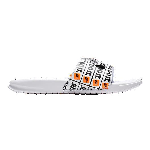 online retailer 018a9 97306 Nike Men s Benassi JDI Print Sandals - White Black   Sport Chek