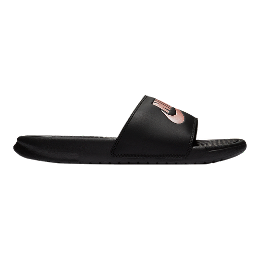 2f062421991d Nike Women s Benassi JDI Sandals - Black Rose Gold