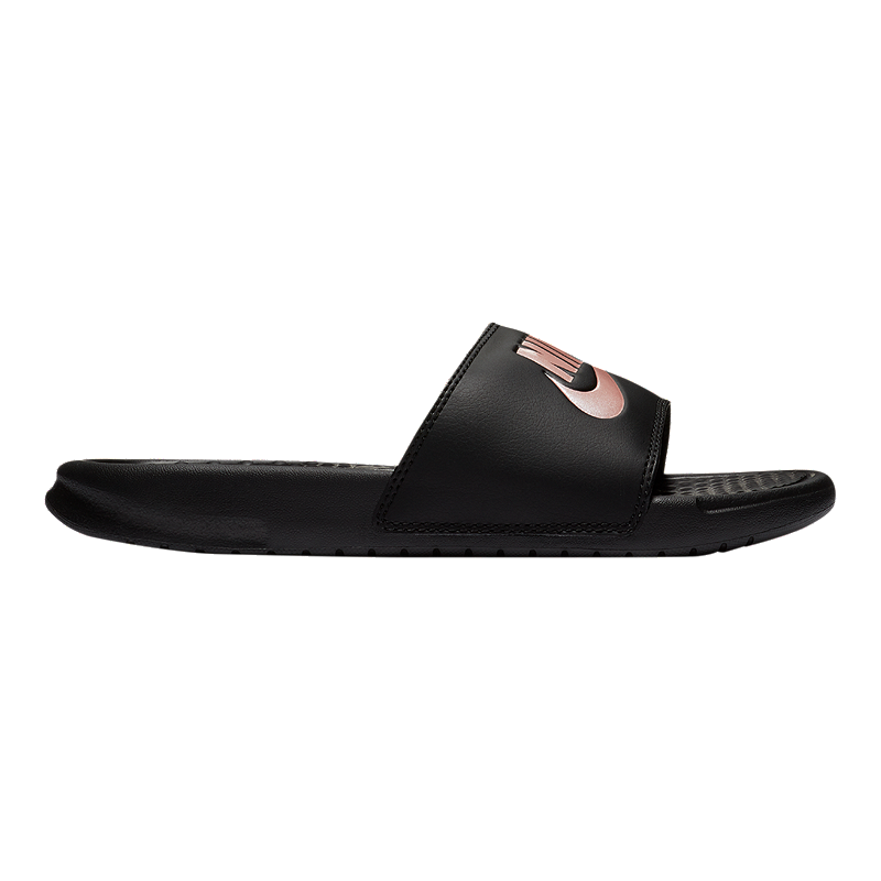 check out 12fb2 6ac35 Nike Women s Benassi JDI Sandals - Black Rose Gold   Sport Chek