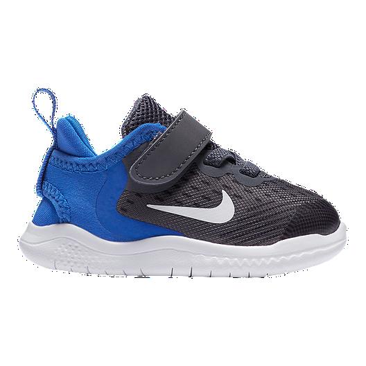 finest selection 1244e 896ea Nike Toddler Free RN 2018 Shoes - Gunsmoke/White/Blue
