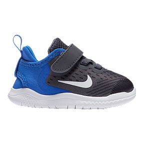 cb9114a0413b Nike Toddler Free RN 2018 Shoes - Gunsmoke White Blue