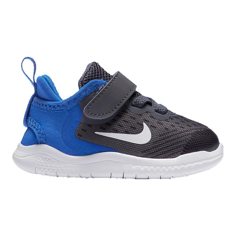 new arrival 1a6cf 7b4c3 Nike Toddler Free RN 2018 Shoes - Gunsmoke White Blue   Sport Chek