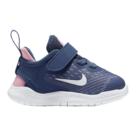 711d356a07eae3 Nike Toddler Girls  Free RN 2018 Diffused Shoes - Blue White Pink ...