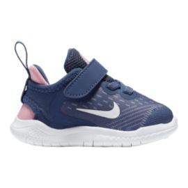 Nike Toddler Girls' Free RN 2018 Diffused Shoes - Blue/White/Pink