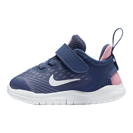 c3dad5c57651e Nike Toddler Girls  Free RN 2018 Diffused Shoes - Blue White Pink ...