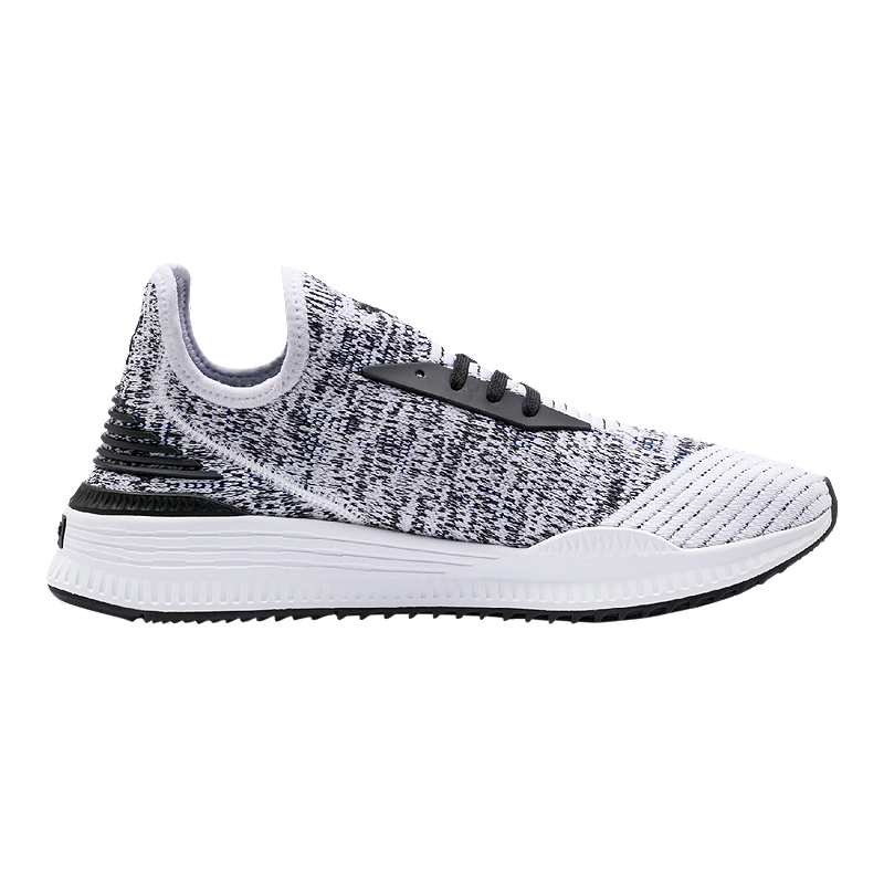 PUMA Men s Avid evoKNIT Mosaic Shoes - White Black  ab9bf7e6f7