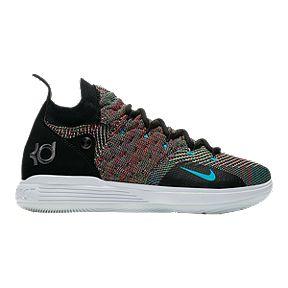 super popular 150a6 3e7a5 Nike Boys  KD 11 Grade School Shoes - Black Chlorine Blue Persian Violet