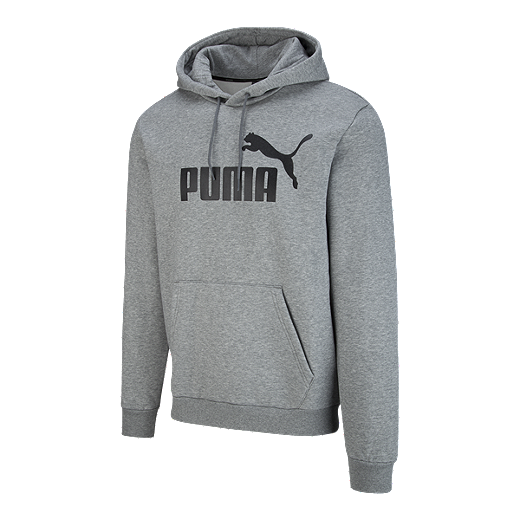 254ae9d93 Puma Men's Essentials Big Logo Pullover Hoodie - MEDIUM GRAY HEATHER