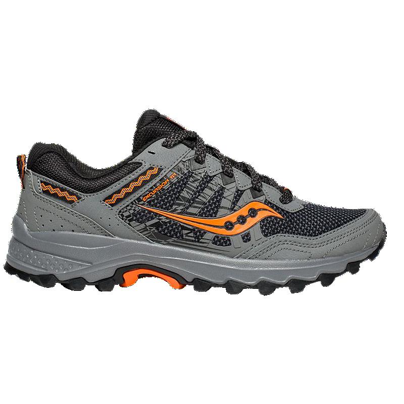 Saucony Men's Excursion TR12 Trail Running Shoes Wide GreyOrange