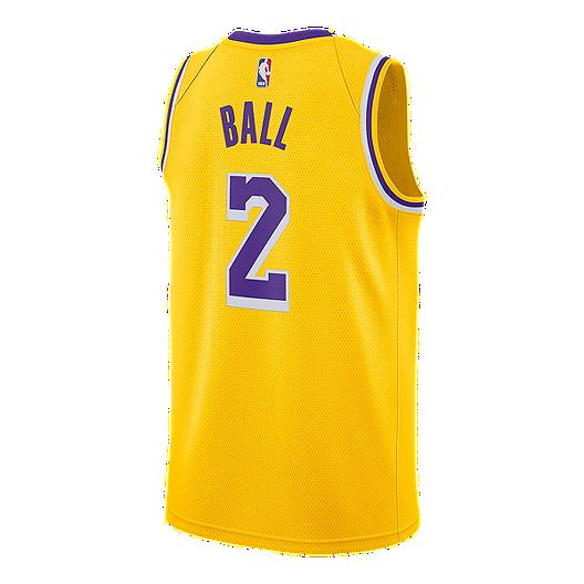 a0b256e3b5c5 Los Angeles Lakers Nike Men s Lonzo Ball Swingman Icon Jersey ...