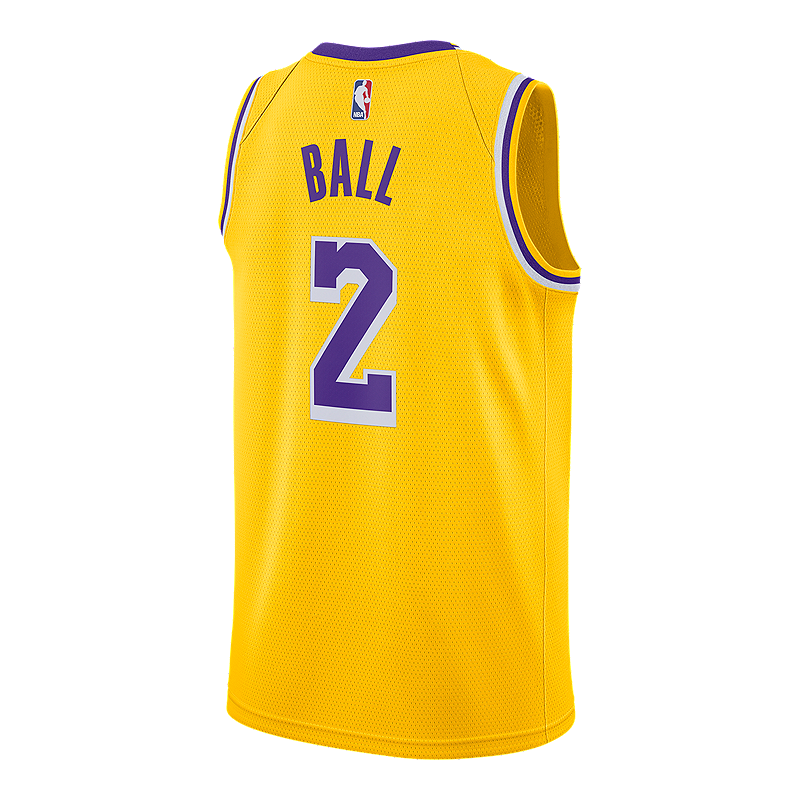 Los Angeles Lakers Nike Men s Lonzo Ball Swingman Icon Jersey ... 9a742b38d