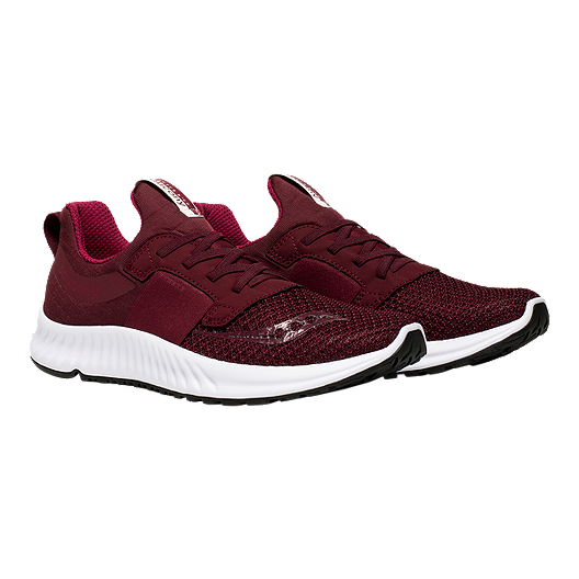 05a3c218e5 Saucony Women's Stretch and Go Breeze Walking Shoe - Burgundy