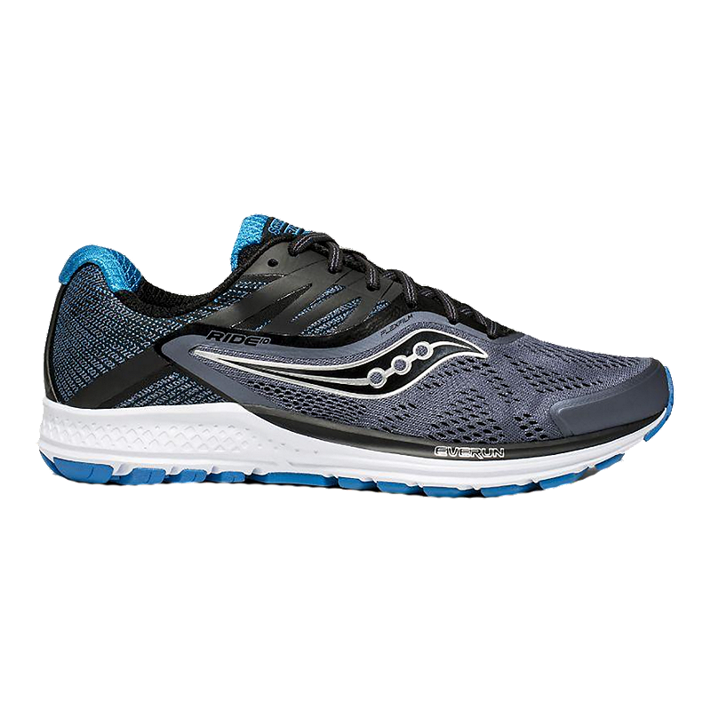 f897ac958182 Saucony Men s Everun Ride 10 Running Shoes - Grey Black Blue