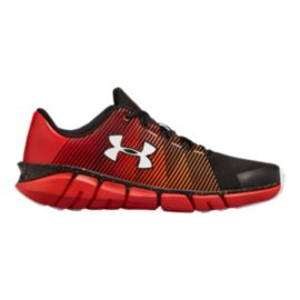 Under Armour Kids' X Level Scramjet Grade School Shoes - Black/Red/White