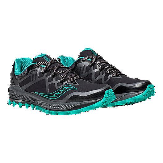 ecfa9a16 Saucony Women's Everun Peregrine 8 GTX Running Shoe - Black/Green