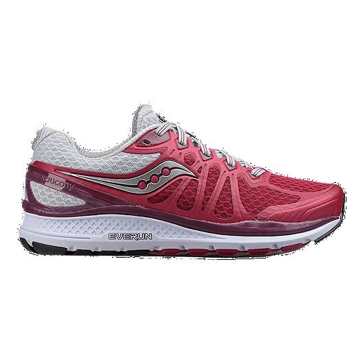 78491b98f7306 Saucony Women s Everun Echelon 6 Wide Running Shoes - Berry Grey ...