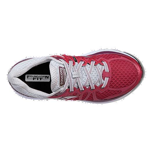 d490bd3dfe Saucony Women's Everun Echelon 6 Wide Running Shoes - Berry/Grey ...