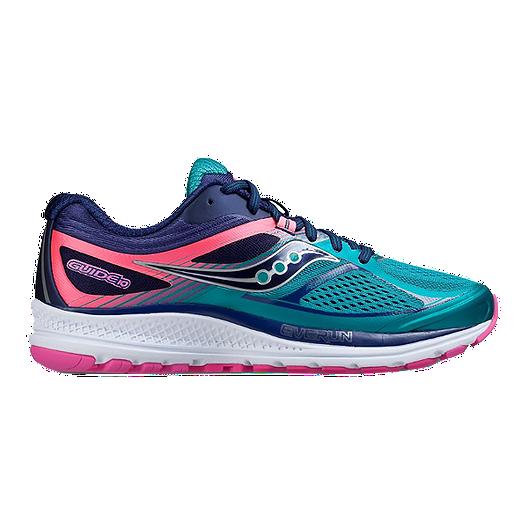 1d59886063 Saucony Women's Everun Guide 10 Running Shoes - Teal/Navy/Pink | Sport Chek