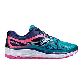 Saucony Women's Everun Guide 10 Running Shoes - Teal/Navy/Pink