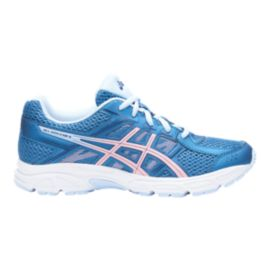 ASICS Girls' Contend 4 Grade School Shoes - Azure/Frosted Rose