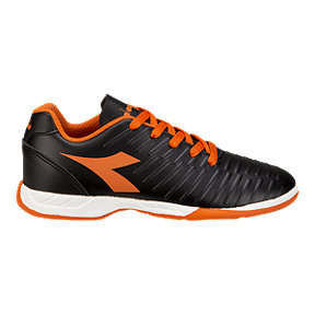Diadora Kids' Exhibit Grade School Shoes - Black/Orange/White