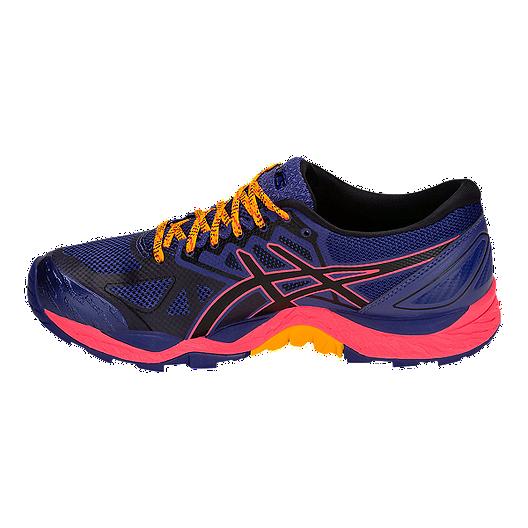 ASICS Women's GEL Fujitrabuco 6 GTX Running Shoes Blue PrintBlack