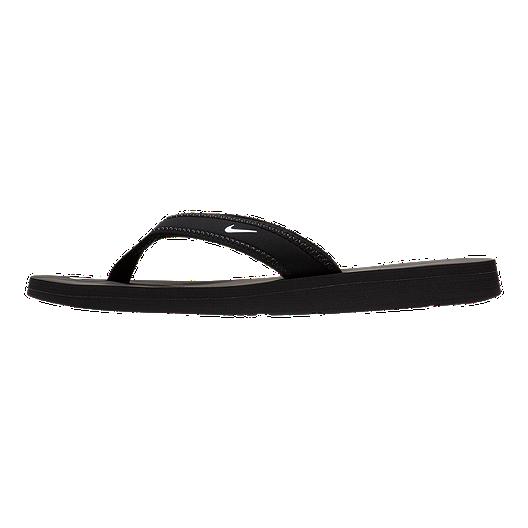 dd88e3a309a0 Nike Women s Celso Thong Sandals - Black White. (8). View Description