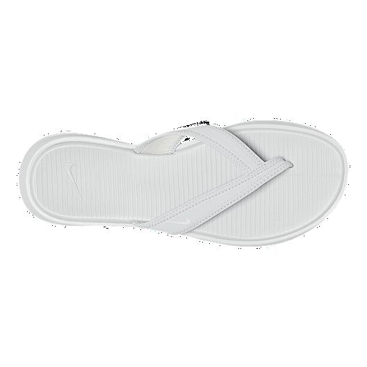 dcc996b2fb062b Nike Women s Ultra Celso Thong Pure Sandals - Platinum White. (0). View  Description
