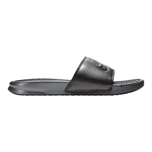 separation shoes 25cbe c397a Nike Women s Benassi Just Do It Metallic QS Sandals - Black   Sport Chek