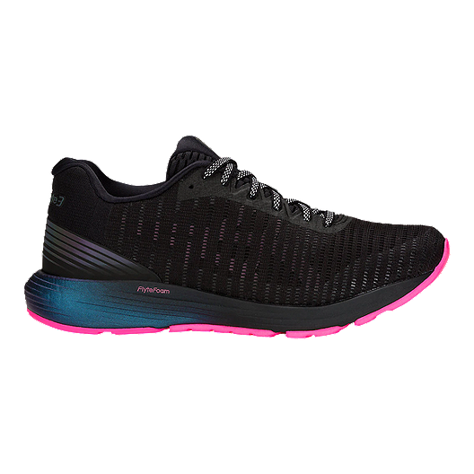 d5cf671df ASICS Women's Dynaflyte 3 Lite-Show Running Shoes - Black/Hot Pink
