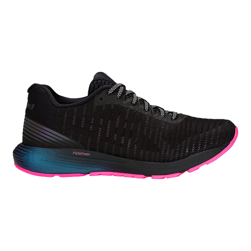 hot sale online newest style of cheap ASICS Women's Dynaflyte 3 Lite-Show Running Shoes - Black/Hot Pink